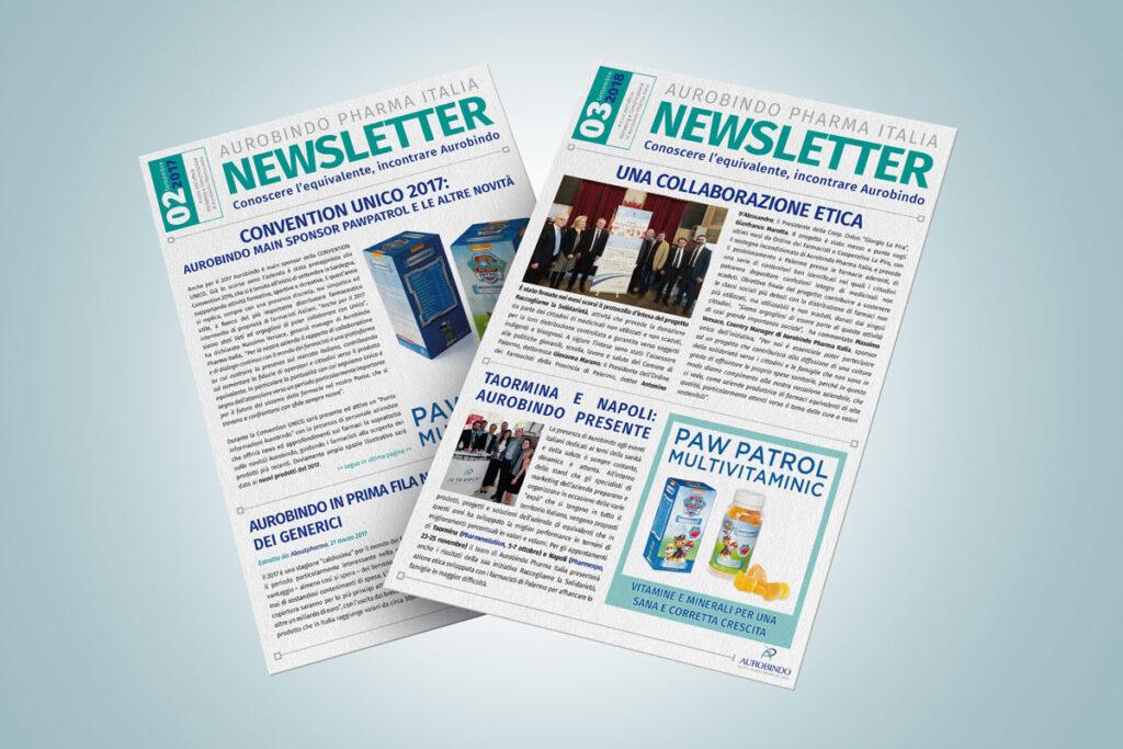 Le Newsletter 2017 e 2018 per Aurobindo Pharma Italia
