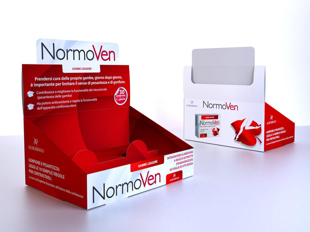 Espositore da banco per prodotto NormoVen Aurobindo