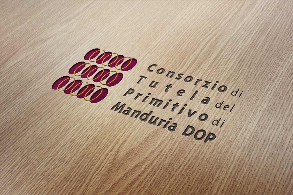 Consorzio Primitivo Manduria_logo impresso su legno