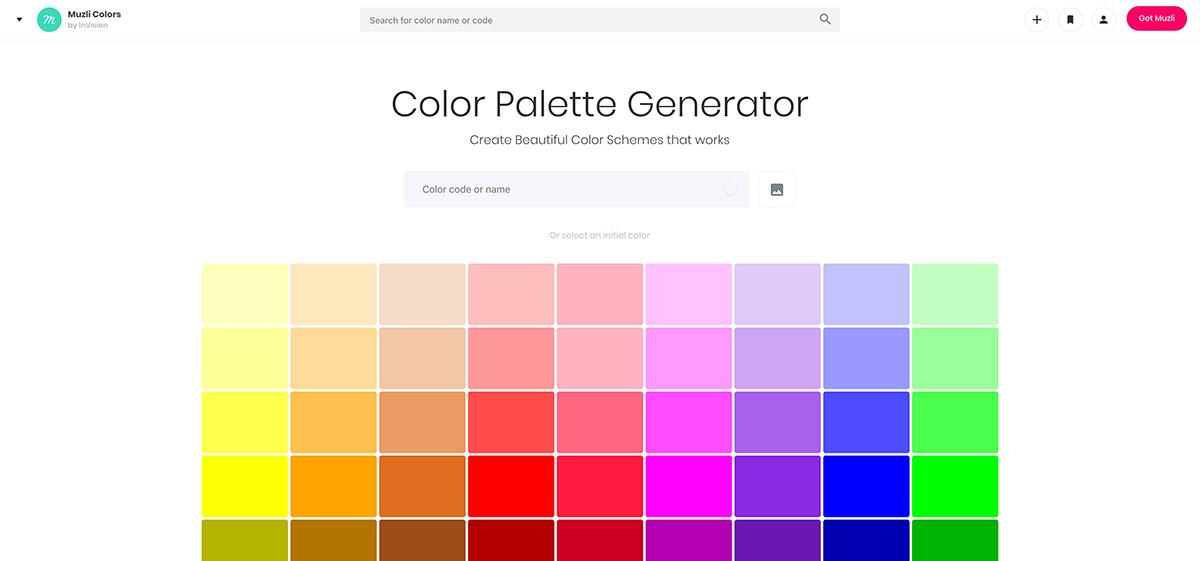 Muzli Color: Color Palette Generator