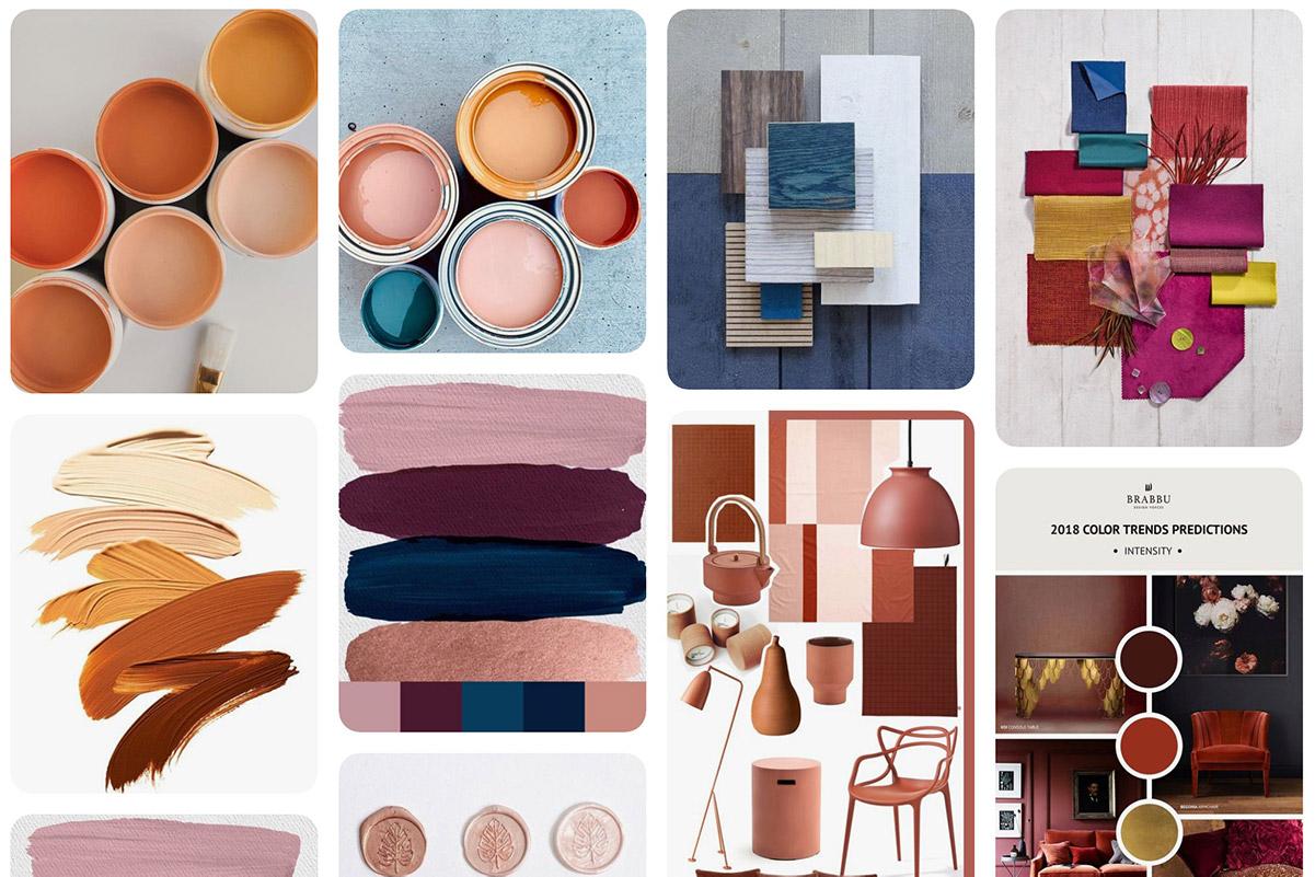 Palette colori su Pinterest di Erica Bortolussi