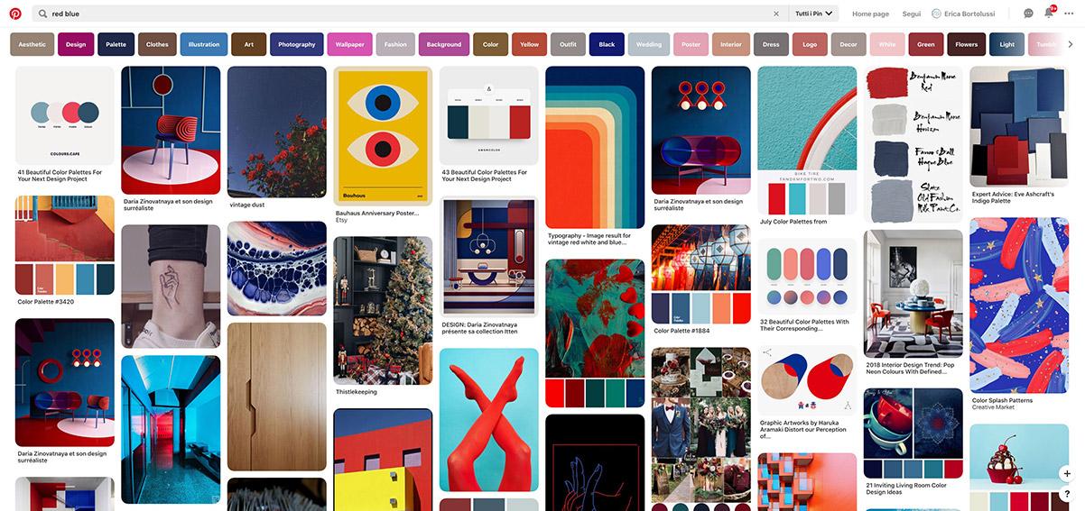 """Risultato della ricerca di fotografie con le parole """"Red Blue"""" in Pinterest"""